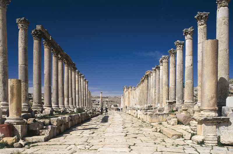 jerash,Colonnaded Street, viaggio in israele